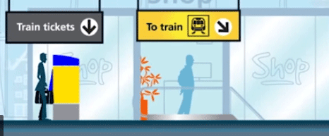 na aankomst met de trein verder reizen